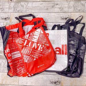 Lululemon (5) reusable shopping bags